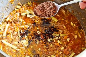 Кода алла ваччинара - добавить кедровые орешки, изюм и горький какао
