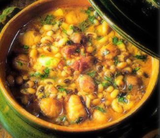 Суп из фасоли с каштанами